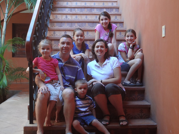 This photo was taken on the steps of our rental house on a recent trip to Granada, Nicaragua.
